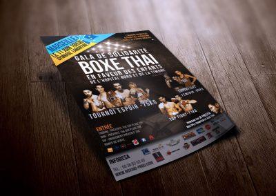 Flyer – Affiche Gala Boxe Marseille Solidarité