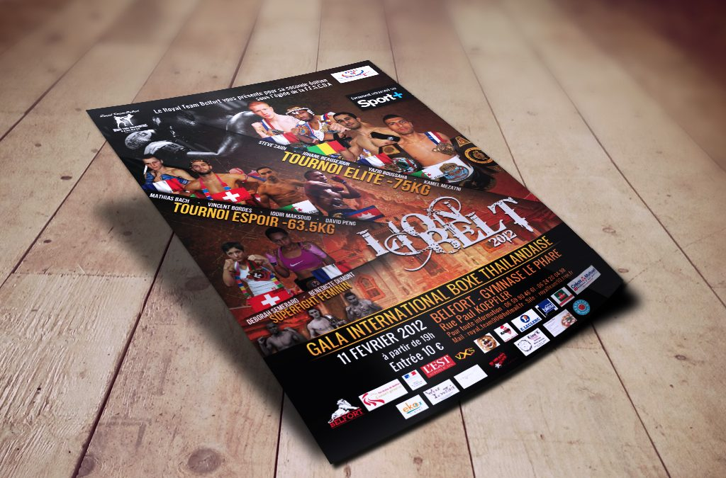 Flyer – Affiche Gala Boxe Lion Belt